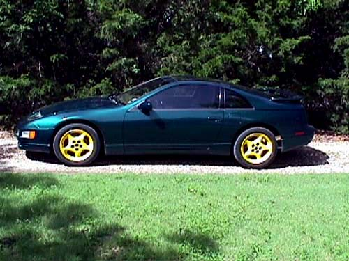 With yellow racewheels